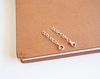 Sterling Silver Chain Extender, Sterling Silver Extenders, Spring Clasp Extender, Lobster Clasp Extender, Extender Wholesale, Chain Extender