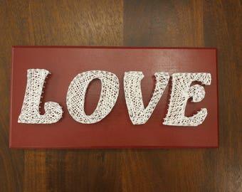 Love Word String Art