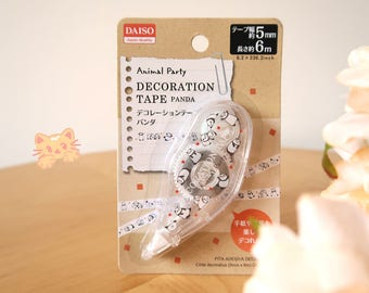 Lazy Chubby Panda Daiso Decoration Tape: 5mm Mini Deco Tape, Great for Scrapbook & Diary, For Panda Lovers!