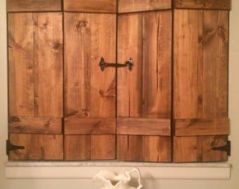 Wood Shutters, Custom