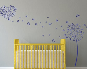 Dandelion Wall Decal | Etsy