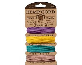 Hemptique H20-Jes Hemp Cord Card 20-Jester