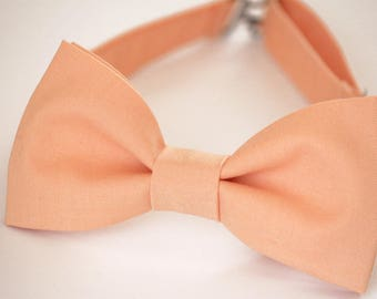 Peach Bow Tie, Mens Bow Tie, Kids Bow Tie, Groomsmen Bow tie, Boys Bow Ties, peach wedding