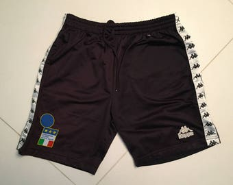 Kappa Football shorts italy black Italia 1996 vintage  - men XL