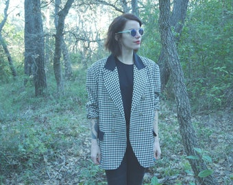 Coat Vintage 80 s 90 s houndstooth Houndstooth T.50 Canda C & A