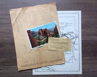 Vintage Colorado Travel Ephemera / Vintage Maps / Vintage Travel / Vintage Postcard / Vintage Scrapbooking / Vintage Paper
