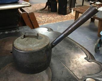 Antique S & P Cast Iron Pot