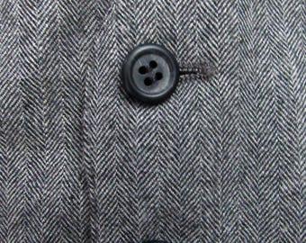 Vintage Wool TWEED Herringbone Vest ~ size 40 ~ waistcoat WEDDING