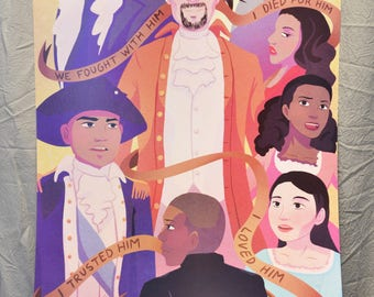 Hamilton (Musical) Poster/Art Print - Fanmade