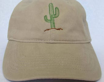 Embroidered Desert Cactus Hat