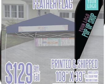 LLR Feather Flag - Black 9ft. *Includes Ground Stake