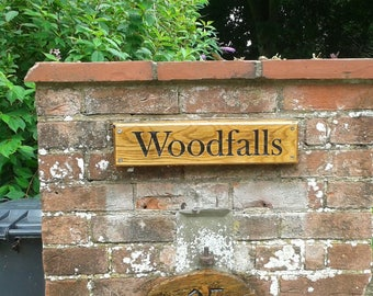 Bespoke hardwood signs made of recycled timber