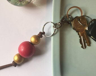 Keychain // Berry and Gold