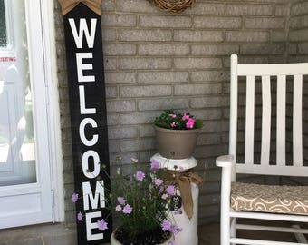 "Hand made ""welcome"" sign"