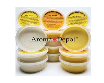 African Shea Butter Raw - Unrefined from 8 oz up to 3 Lb Ivory Or Yellow 100% Pure Natural Same Day Shipping!