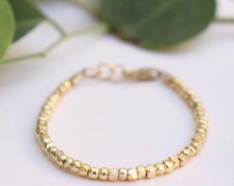 Classic Bracelet • Gold Baby Bracelet • Gold Toddler Bracelet • Stackable Baby Bracelet  • Stackable Toddler Bracelet