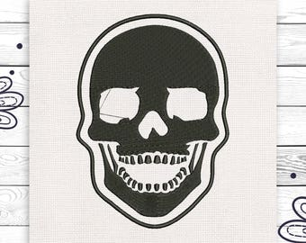 Skull embroidery Bicker design Discount 10% Machine embroidery design 4 sizes INSTANT DOWNLOAD EE5033