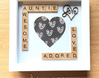Auntie Gift. Auntie Picture Frame. Aunt Gift. Aunty Gift. Photo Frame Gift For Aunties.