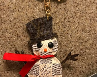 Special order/ high print/ snowman purse charm