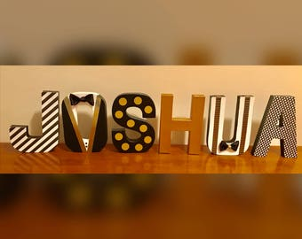 Mr.ONEderful 8 inch paper mache Letter or Number Quantity 1