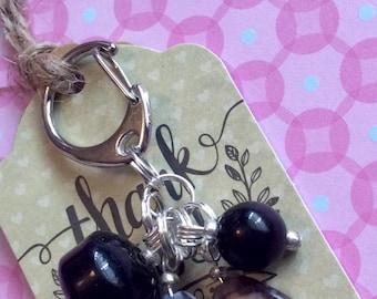 Thank you gift tagged bag charm key ring
