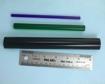 3 Acrylic Brayers.PuffinWand, PuffinRod and Full sized. All three sizes but large brayer isn't polished.
