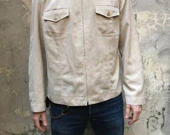 Beige 70s jacket s VINTAGE