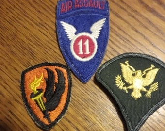 Vintage, Military Patches,Sew on Original Military Patches