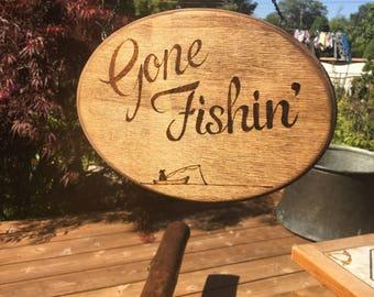 Gone Fishin Sign