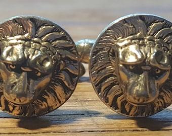 Vintage Swank Lion Head Cufflinks
