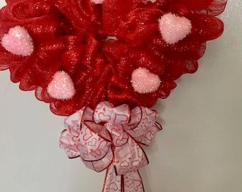 Valentine's Heart Shaped Wreath