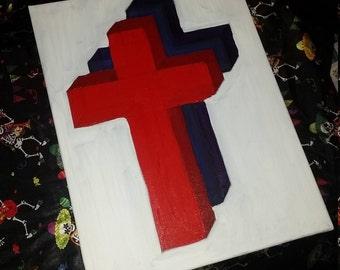 Crucifix canvas