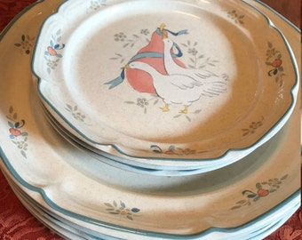 """Vintage Pieces from the """"Marmalade 8868 Series"""" Stoneware by the International China Company"""