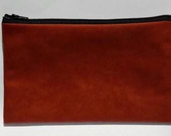 zipper pouch Red Soft RYLON
