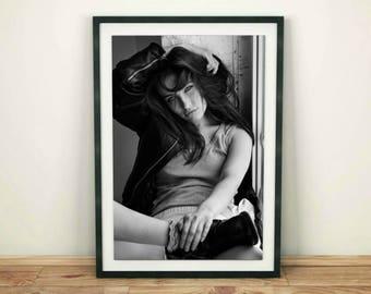 Fashion Print, Black and White Woman Wall Art, Fashion Wall Art, Female Print Art, Printable Poster, Girl Print, Model Photo, Women Print
