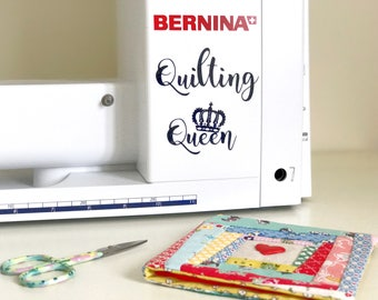 Quilting Queen Vinyl Decal Sticker Quilter Quilting Accessories Accessory Adhesive Removable Sewing Craft Queen Sewing Room Decal