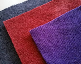 Hand-dyed 9X9 Pre-felted Wool Fabric Squares