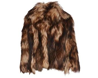 Goat Fur Coat - Women's Size L