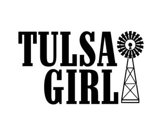 Tulsa Girl SVG