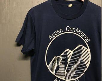 M thin vintage 80s 1989 Aspen Conference Screen Stars t shirt
