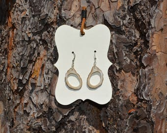 Small Deer Antler Dangle Earrings