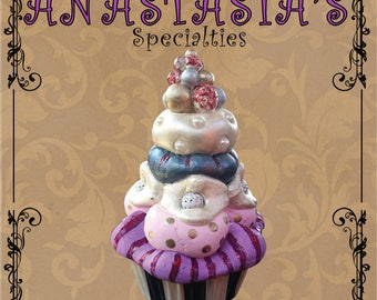 Hand Made Clay Cupcakes