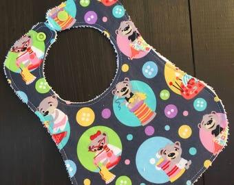 Crafty Bears baby bib, bear bib, baby shower gift, baby shower, baby bib