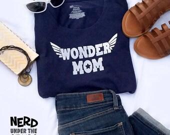 Wonder Mom Scoop Neck T Shirt, Wonder Woman Inspired T-shirt, Fun Nerdy Woman's Tank Top, Geek Tee, Gift for Mom, Wonder Woman Inspired Gift