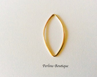 Insert made of gold filled 14 k 36 * 16mm
