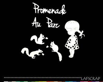 cut little scrapbooking girls dress squirrel animal baby birth Word Princess embellishment Scrapbook die cuts