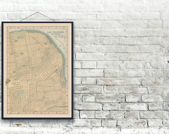San Francisco California 1893 Map Fine Art Print