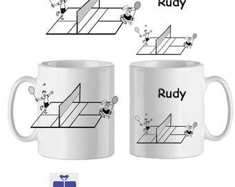 Customize a Mug Badminton name ex Rudy