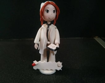 Little nurse made cold porcelain