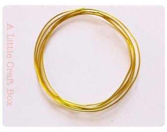 2 m of wire, aluminum 1 mm-yellow / gold